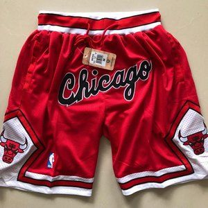 JUST DON Mitchell & Ness Chicago Bulls Shorts Red